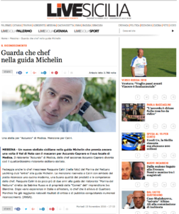 "lo chef messinese Pasquale Caliri (nella foto) del Marina del Nettuno yachting club ""entra"" alla guida Michelin."